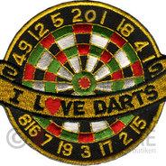 I Love Darts - Tygmärke