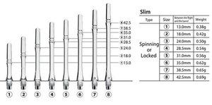 Cosmo Fit Shafts Gear Slim Spinning Svart Storlek  4 - 28,5mm
