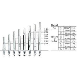 Cosmo Fit Shafts Gear Normal locked Svart Storlek 2  - 18mm
