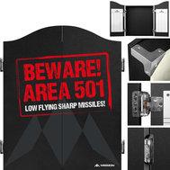 Mission Dartboard Cabinet Area 501 - Beware