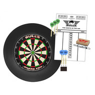 Bulls Surround Dartboard Pro Set Svart