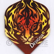 Tiger in flames