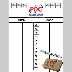 PDC Whiteboard med Penna & Sudd