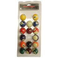 "POWERGLIDE 1"" 7/8' (47,5MM) POOL BALLS - SPOTS & STRIPES"