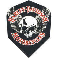 Harley Davidson Black with white skull