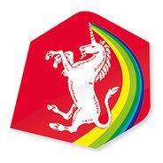 Unicorn Regnbåge Enhörning Röd