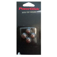 POWERGLIDE STICK ON BROWN TIPS 13MM 4PC