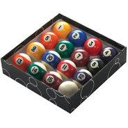 "POWERGLIDE 2"" (51MM) POOL BALLS (STRIPES) - STD"